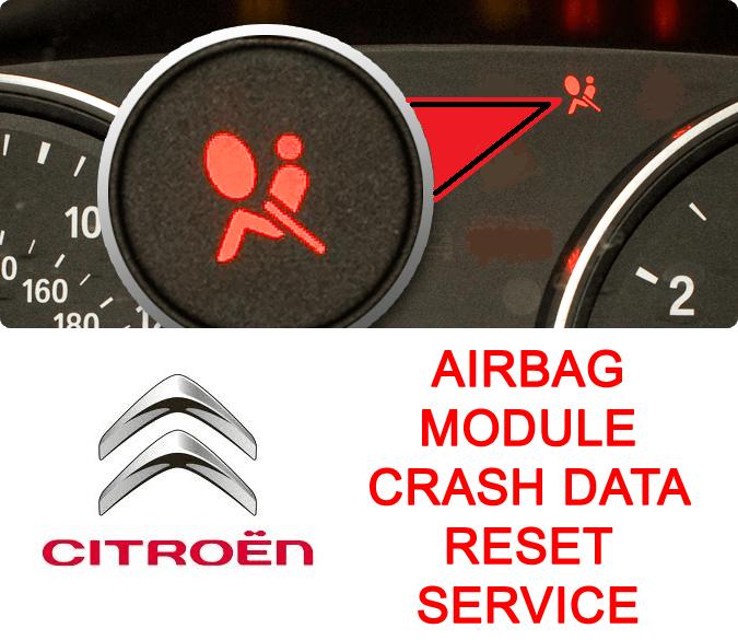 Citroen airbag module crash data reset