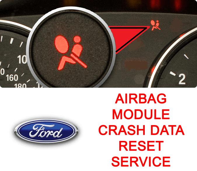 Ford airbag module crash data reset