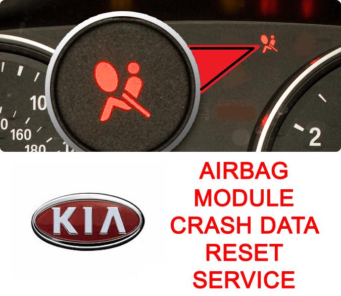Kia airbag module crash data reset